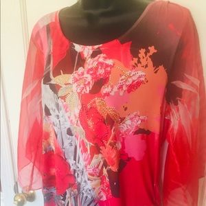 Style & Co. Floral Blouse. Size large.